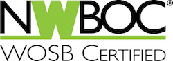 Woman Owned Small Bussiness Cerfication logo from NWBOC