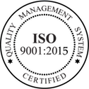 Quality Management System ISO 9001 Certified Business Seal
